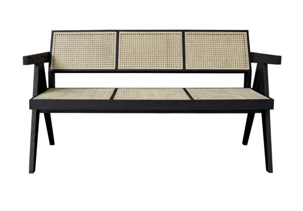 Sofa Triple Junquillo Black