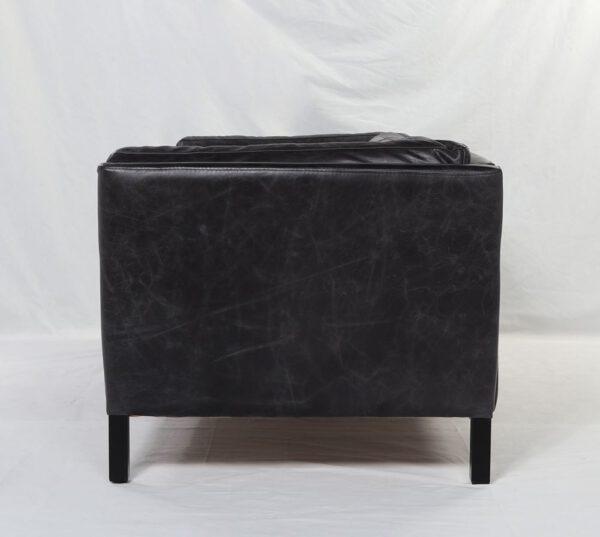Sofa Triple Cuero Negro