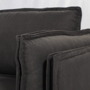 Sofa Triple Nordic Tela Black