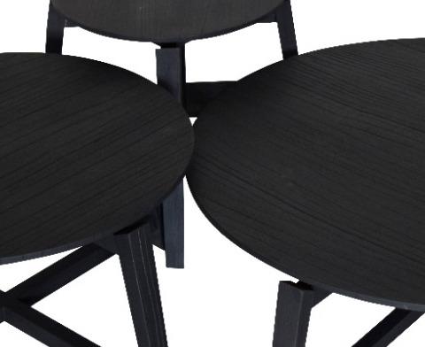 Set de Mesas de centro Milou Black