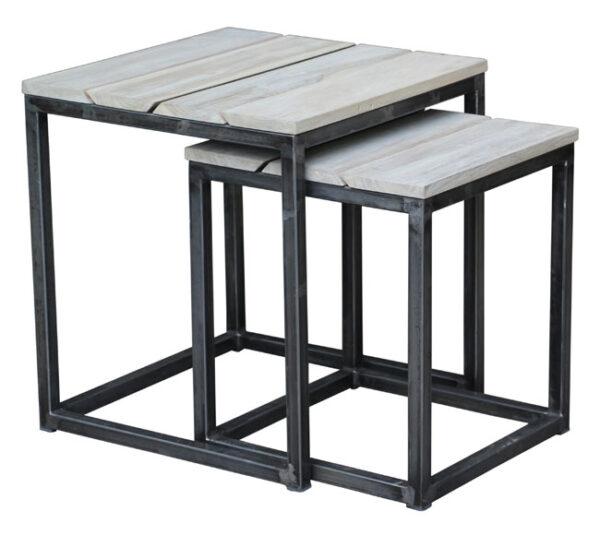 Set de Mesas laterales Blanc