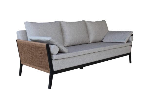 Sofa Triple Carlos Negro