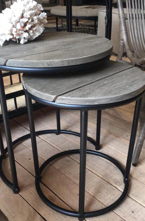Set de mesa laterales Taupe